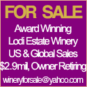 Award Winning Lodi Estate Winery For Sale