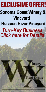 Sonoma Coast Winery and Vineyard Plus Russian River Vineyard for sale by WineryX Real Estate