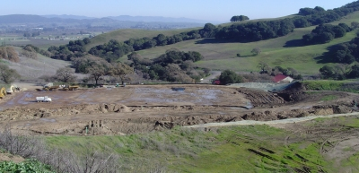 Graded site for Carneros Vintners. Click image to enlarge. Photo Copyright 2009, Wine Industry Insight.
