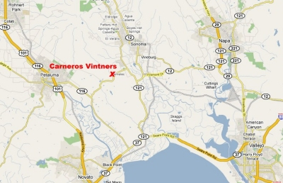 Carneros Vintners Location. Click image to enlarge.